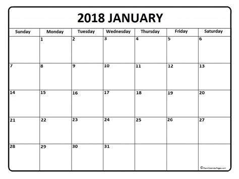 Calendar 2018 Jan June January 2018 Calendar January 2018 Calendar Printable