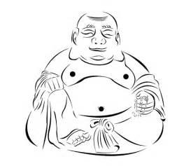 Dan Barns Buddha Outlines Just The B Amp W Version Of The Buddha