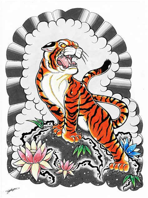 japanese style tiger tattoo designs japanese tiger drawing www pixshark images