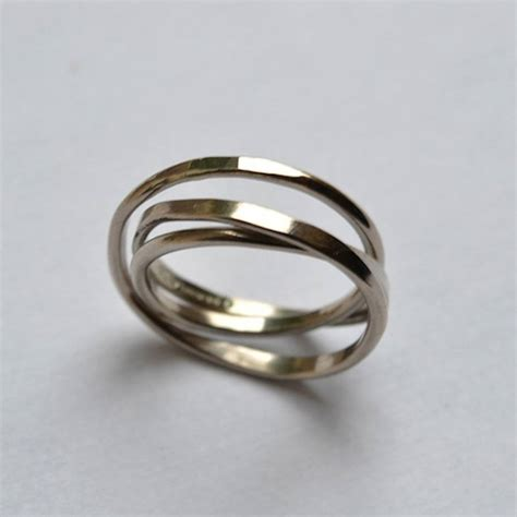 Handcrafted Wedding Rings - handmade white gold cosmic wedding ring by fran regan