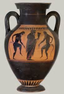 black figure vase painting