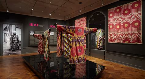 textile traders curtains ikat exhibition displaying textiles from uzbekistan t