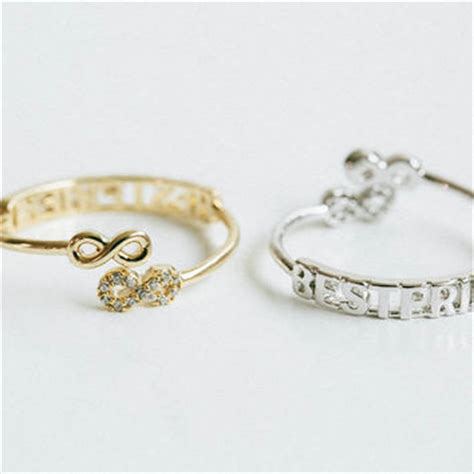 infinity ring best friends shop bff infinity rings on wanelo