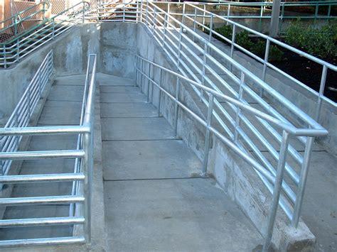 Handicap Stair Rail Commercial Railing Decorative Deco Glass Handicap Fdot