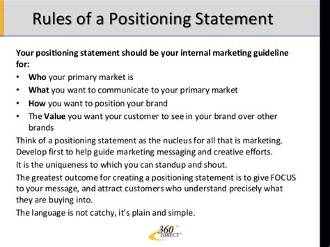 positioning statement template positioning statement debriefed
