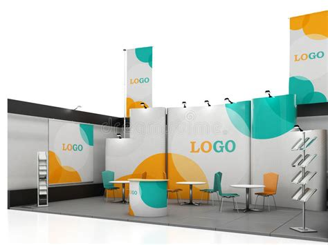 exhibition stand design template blank creative exhibition stand design with color shapes