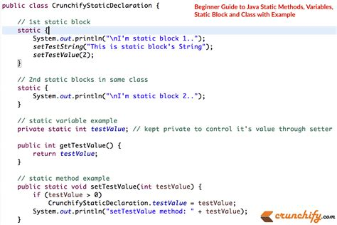 Java Set Joger beginner guide to java static methods variables static