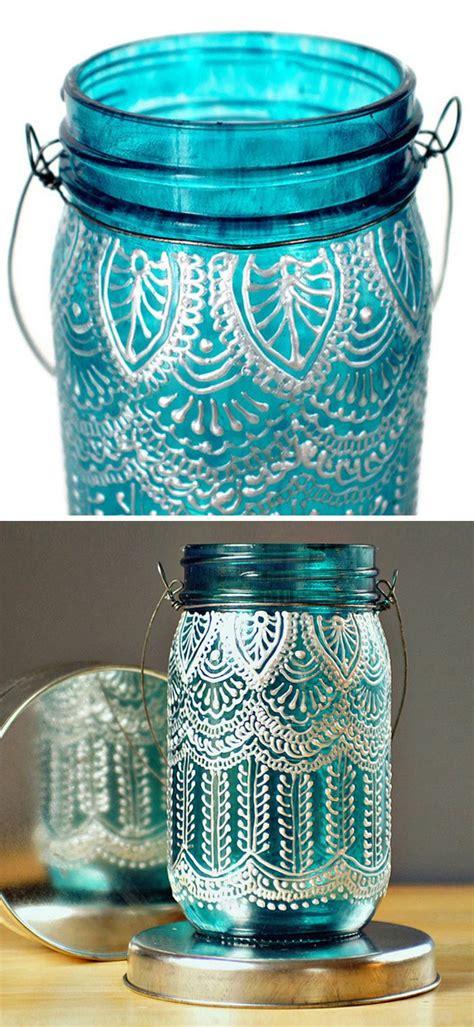 henna design mason jars lace henna mason jar lantern diy idea product design