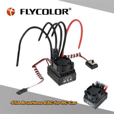 Rc Car Flycolor Lighting Series 45a 2 4s Rc Car Brushless Esc With 6v buy original ztw spider series 30a opto brushless speed esc 2 6s lipo dji wheel