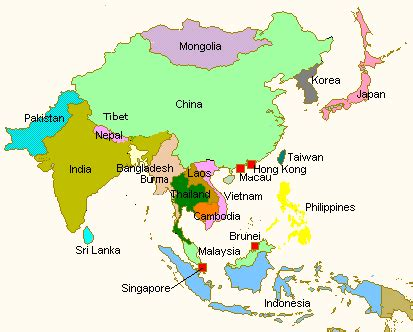 monsoon asia map asia map central asia map