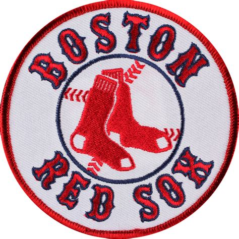 boston sox colors boston sox patch jersey logo emblem official mlb