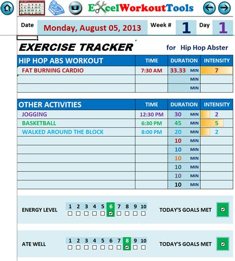 hip hop abs workout calendar excel eoua