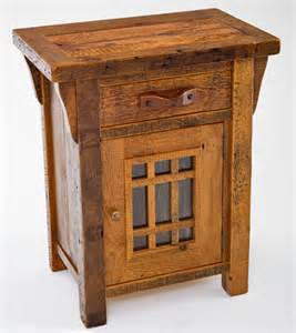 barnwood end tables amp nightstands rustic bedroom furnishings woodland creek furniture