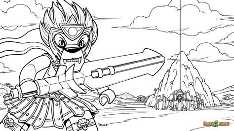lego laval and the chi temple coloring page printable