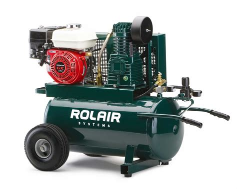 portable gas powered air compressor portable wheelbarrow gas compressor rolair systems
