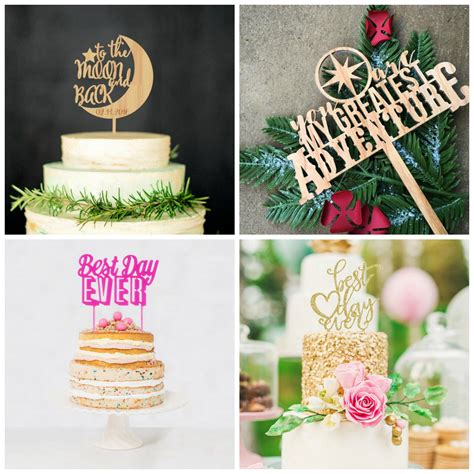 Wedding Cake Topper Ideas by 19 Of The Cutest Wedding Cake Topper Ideas