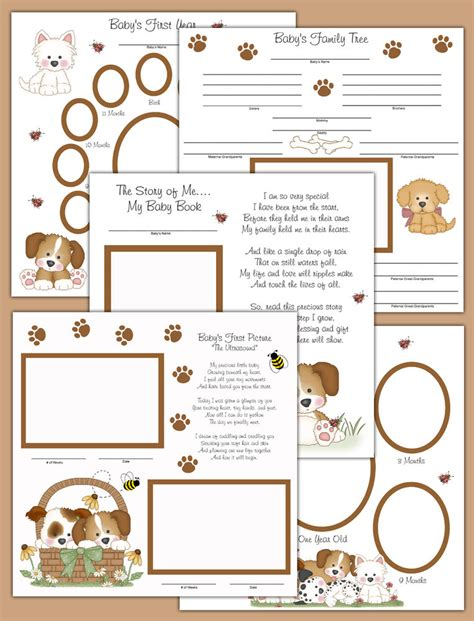 layout now book puppy premade scrapbook pages layout 12x12 album book baby