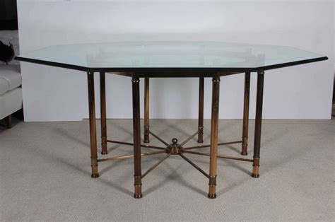 octagon dining room table mastercraft oversized brass octagonal dining table at 1stdibs