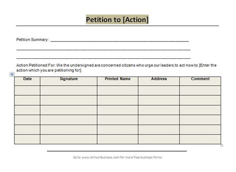 30 Petition Templates How To Write Petition Guide Petition Form Template