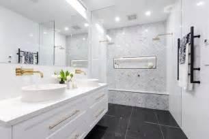 Bench For Vanity The Block 2016 Family Bathroom Photos Popsugar Home