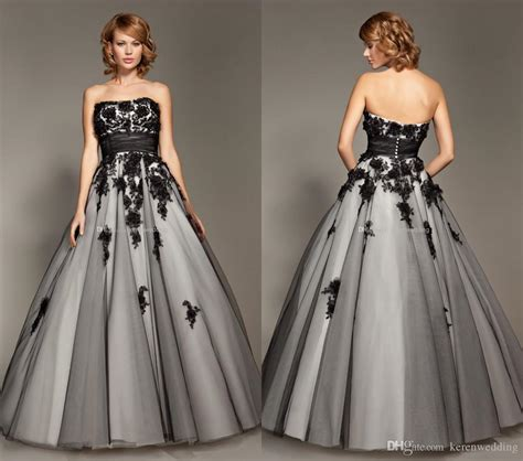 Malam White Kiloan New Arrival 1 charming grey gown with black appliques beaded