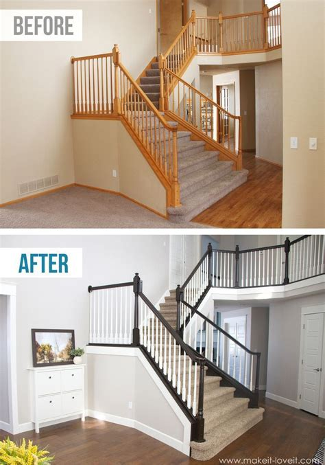Sanding Banister by 25 Best Ideas About Staircase Makeover On
