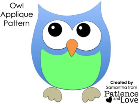 printable owl applique pattern image gallery owl applique template free