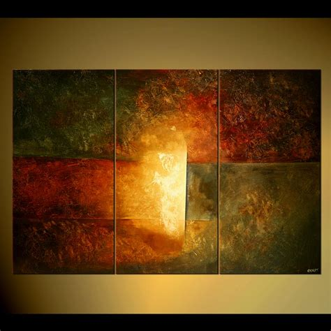 modern paint abstract painting triptych abstract painting large wall