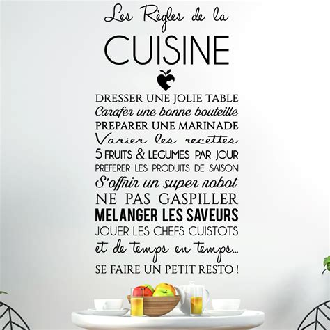 sticker citation les r 232 gles de la cuisine stickers