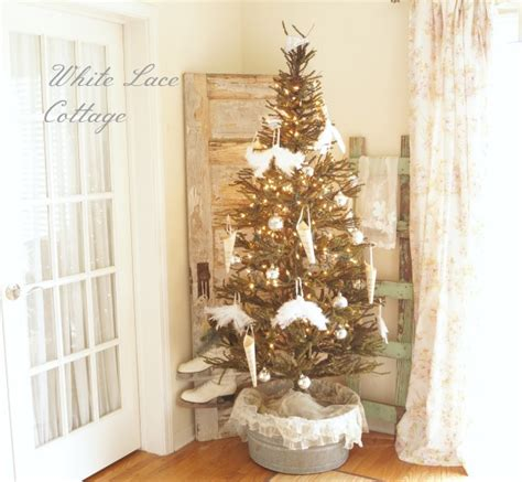 pictures of christmas trees in a wash tub a tree in my kitchen white lace cottage