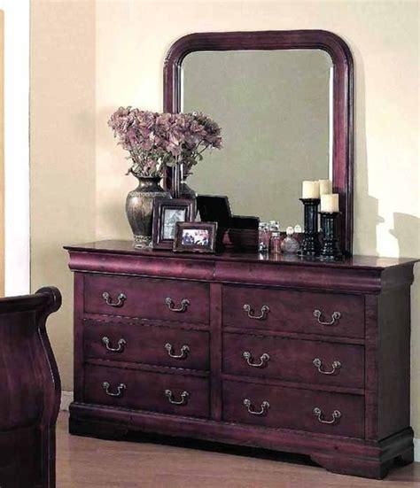 yuan furniture louis phillipe cherry dresser and