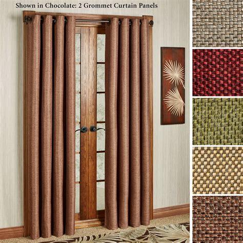 basket weave curtains gloria basket weave texture grommet curtain panels