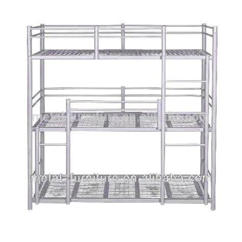 Wholesale Modern Dormitory Hostels 3 Tier 3 Sleeper Steel Tier Bunk Beds