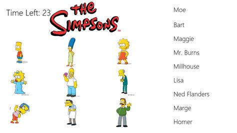 simpsons name page of the simpsons match for windows 10 8 on topwindata