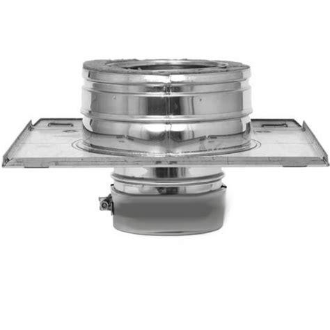 Chimney Liner Flue Adapter - flex flue liner to dw adapter plate 6 inch wall