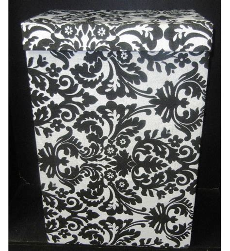 black damask laundry her in laundry sorters