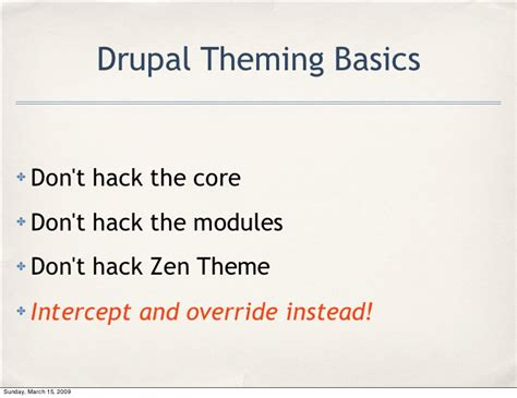drupal theme override drupal 6 theming using the zen theme