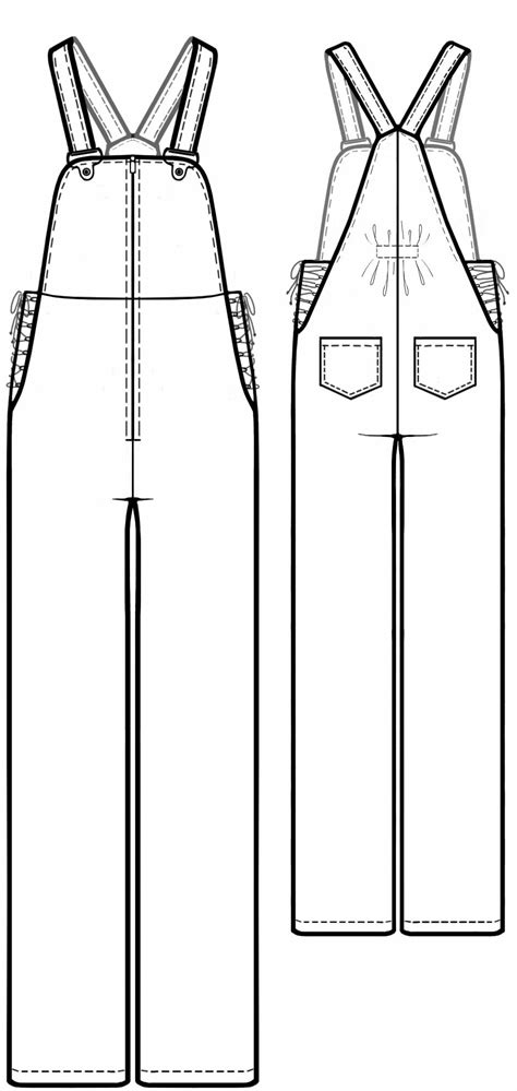 technical drawing free overalls sewing pattern 5601 made to measure sewing