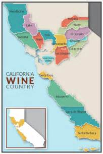 california wine growing regions map california wine country