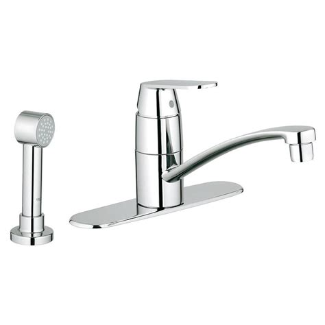 grohe faucets kitchen grohe eurosmart cosmopolitan single handle side sprayer