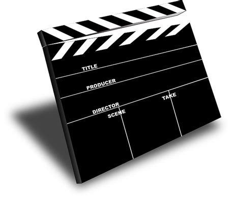 film  clapper  vector graphic  pixabay
