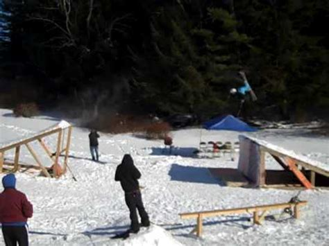 backyard ski park best backyard terrain park youtube