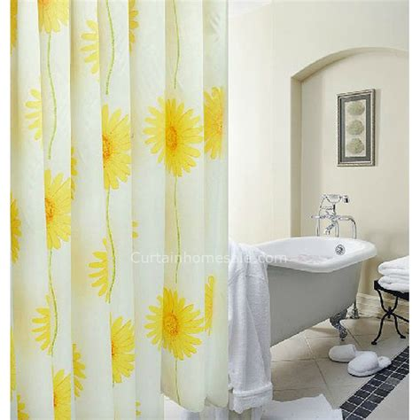 modern print yellow color modern shower curtain