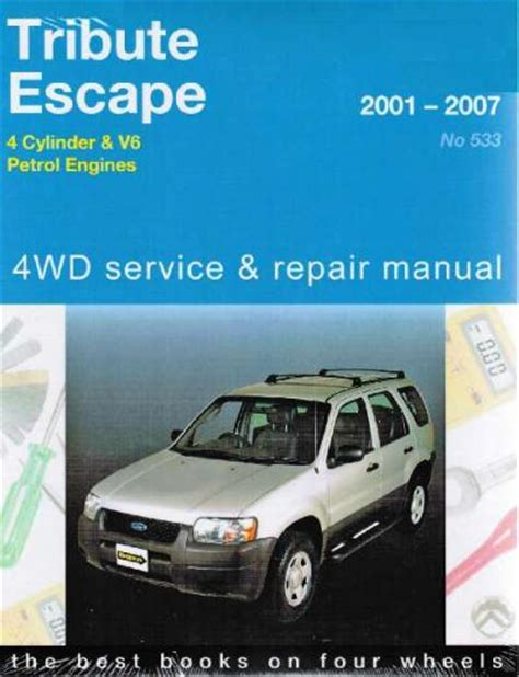 ford tribute mazda escape 4wd 2001 2007 gregorys service repair manual sagin workshop car