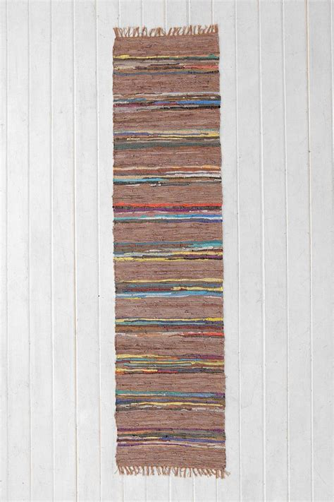Striped Kitchen Rug Runner Magical Thinking Striped Leather Rug 1st Floor Hallway My Nashville Home