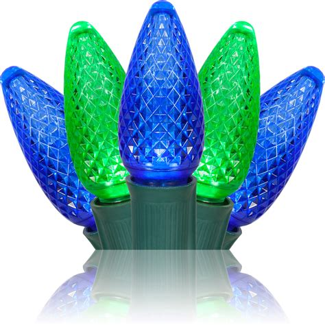 blue and green xmas lights walkway lights c9 blue green led pathway lights