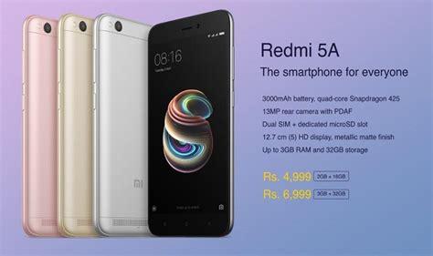 Xiaomi Redmi 5a By Rizky Store xiaomi desh ka smartphone redmi 5a launched price in