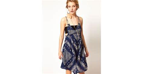 denim supply ralph bandana print dress in blue lyst