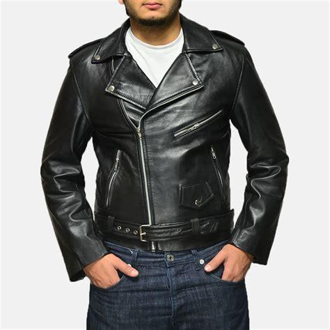 mens leather biker jacket mens allaric alley black leather biker jacket
