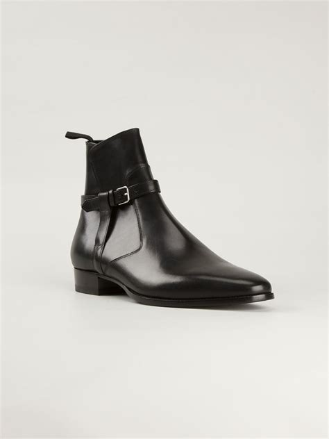 laurent jodhpur ankle boots in black for lyst
